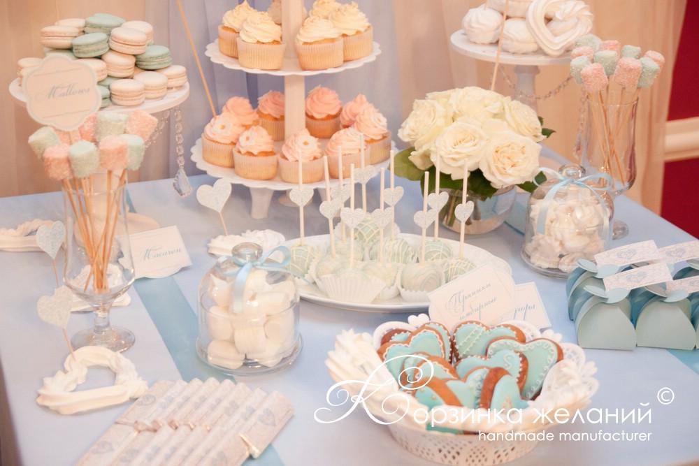 Кенди бар свадьба своими руками голубые тона 60